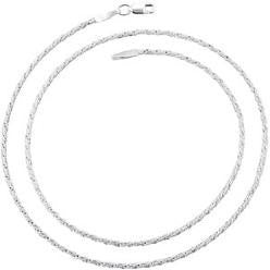 6300-22 | 1.3mm Silver Rope Chain Necklace 22""