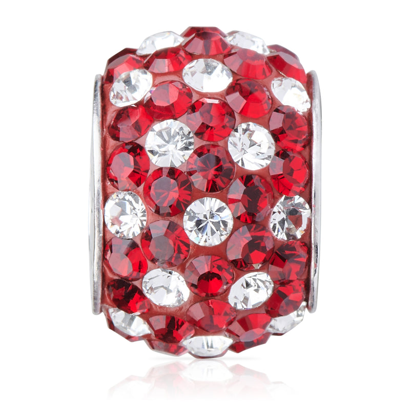 1800 | Sparklies® - Siam Red & Clear Polka Dot..