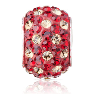 1807 | Sparklies® - Siam Red & Gold Polka Dot