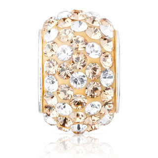 1827 | Sparklies® - Light Golden Topaz & Clear Polka Dot