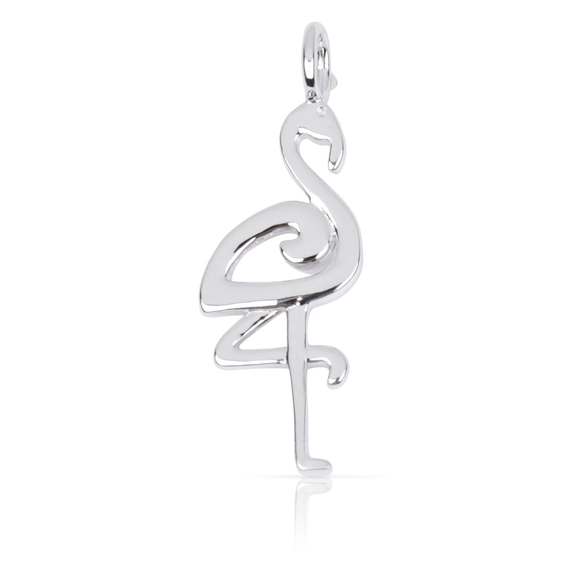 8075 | Sterling Silver Pendant – Flamingo