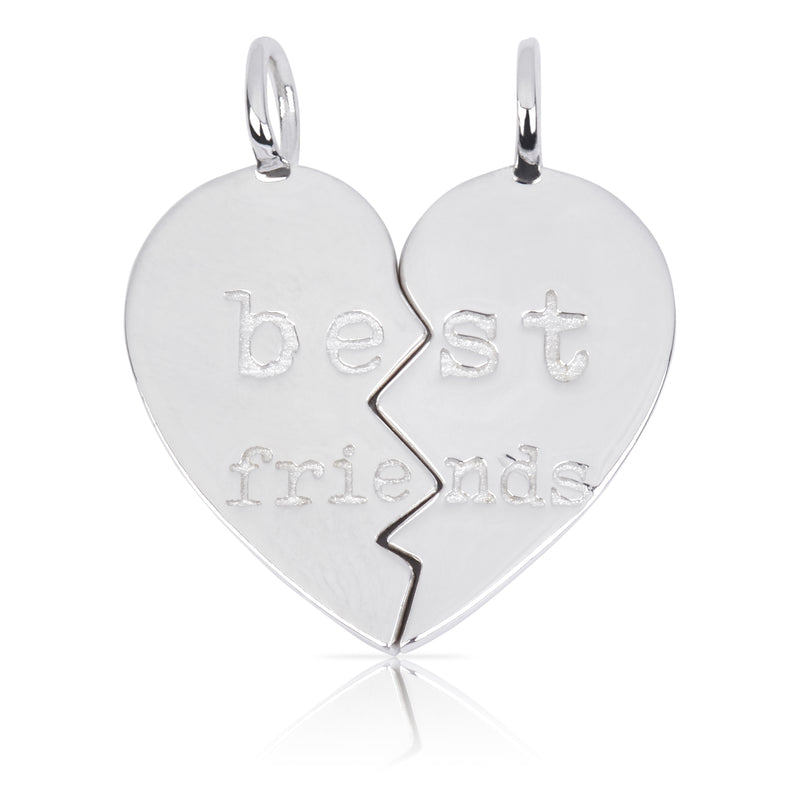 8100 | Sterling Silver Pendant – Best Friends Heart (2pc)