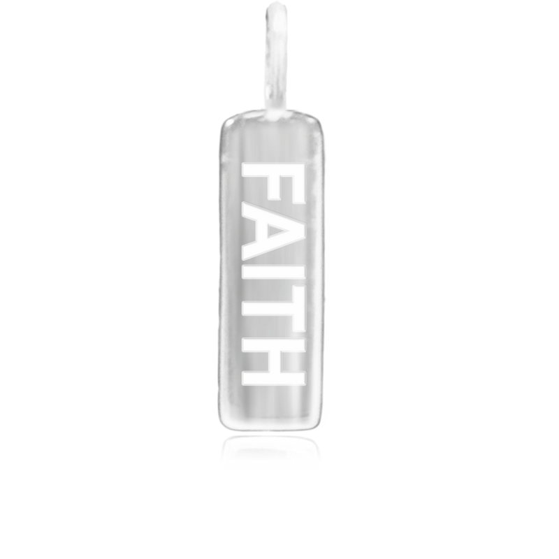 8WB-FAITH | Sterling Silver Pendant – Word Bar FAITH