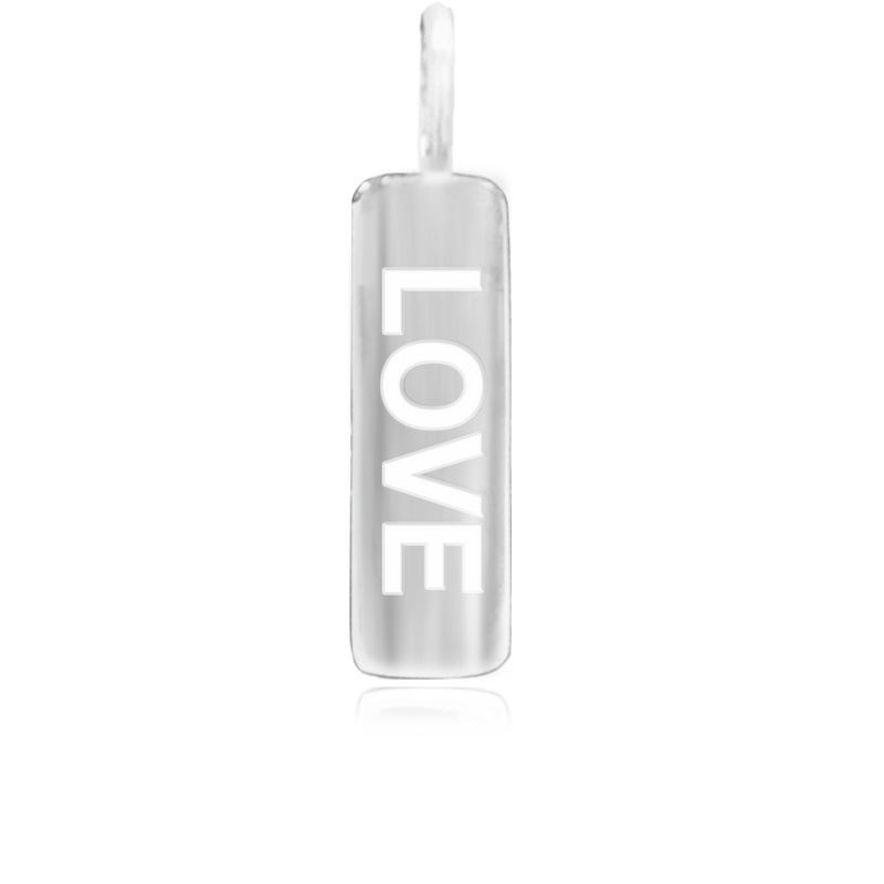 8WB-LOVE | Sterling Silver Pendant – Word Bar LOVE