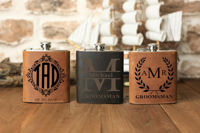 Groomsmen Gift, Groomsmen Flasks, Groomsmen Gift Proposal, Mens Party Favors, Personalized Groomsmen Gift Flask, Wedding Flask For Groomsmen