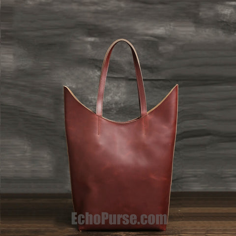 739e915fbf0c00 Handmade Leather Tote Bag, Shopping Bag, Vintage Shoulder Bag For Women