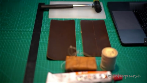 How to make a handmade leather wallet- echopurse