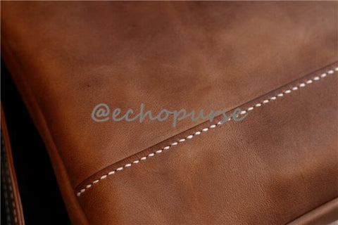 echopurse crazy horse leather