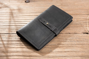 10 Best Passport Holder, Crazy Horse Leather Open Horizontal Wallet, Leather Wallet, Card Holder, Pen Holder - echopurse
