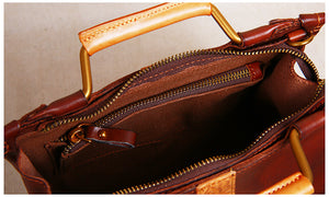 10 Nice Handmade Leather Satchel Bags, Purses, Crossbody Bags On Sale JL057 - echopurse
