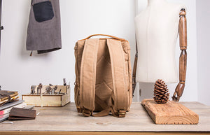 Army Green Backpack For Travel, Canvas School Rucksack, Chic Style Diaper Backpack, Gym Sports Backpack BM2118 - echopurse