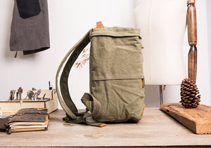 Backpack For Travel, Canvas School Rucksack, Chic Style Diaper Backpack, Gym Sports Backpack BM2118 - echopurse