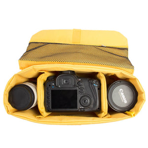 Camera Insert Bag can fit one camera body with attached lens and one extra lens 407 - echopurse