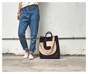Canvas And Leather Tote Bag, Large Handbags, Vintage Style Women Shoulder Bag, Crossbody Bag BFC178 - echopurse