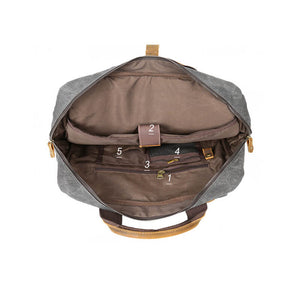 Canvas Backpack For Men, Vintage Large Capacity Shoulder Bag, Coffee Travel Bag CF57 - echopurse