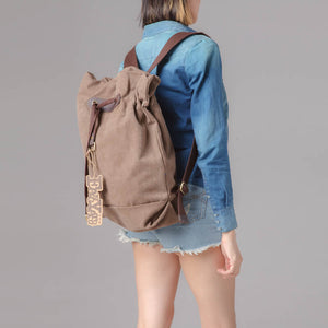 Canvas Backpack For Women, Laptop Rucksack, School Daily Backpack BDB999 - echopurse