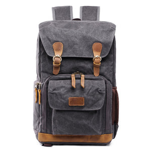 Canvas DSLR/SLR Camera Bag, Waterproof School Backpacks, Travel Camera Bag QSM279 - echopurse