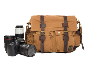 Canvas DSLR Camera Bag, Cross Body Messenger DSLR Camera Bag 2138L - echopurse