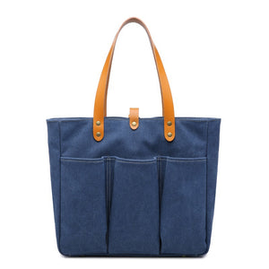 Canvas Shoulder Bag Vintage Tote Bag Women Handbag Canvas Shopper Bag Christmas Gifts - echopurse
