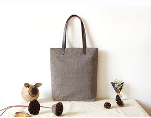 Cotton And Linen Canvas Bag, Vintage Shoulder Bag, Tote Bag BB868 - echopurse