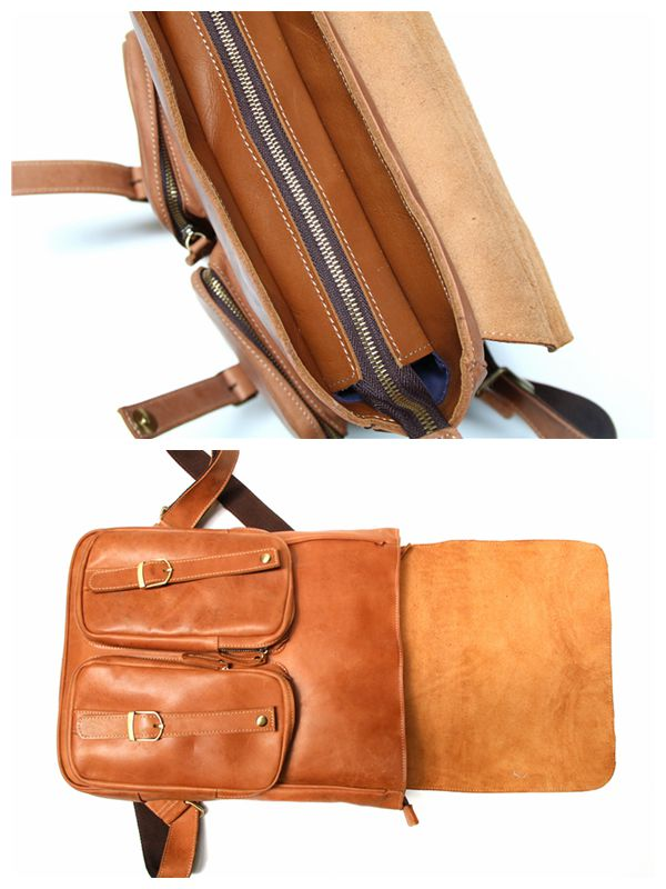 8eb4391b8491 Crazy Horse Leather Backpack
