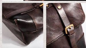 Crossbody Messenger Bag, Vintage Leather Bag, Handbags for Women AK7093 - echopurse