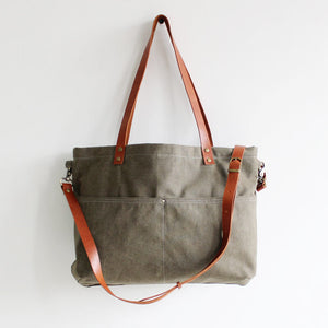 Duck Bag, Canvas Totes, Chic Shopper Bag- Green 14022 - echopurse
