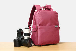 Canvas DSLR Camera Backpack Waterproof Camera Bag for Sony Canon Nikon Olympus B6302 - echopurse
