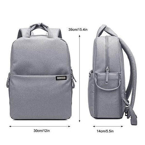 Fashion Style Canvas Camera Bag, Waterproof Camera Backpack for Sony Canon Nikon Olympus - echopurse