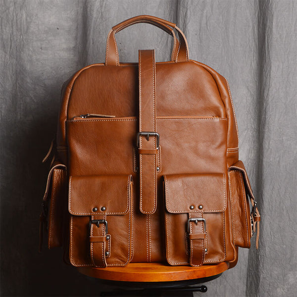08d83db0eec3 Full Grain Leather Backpack