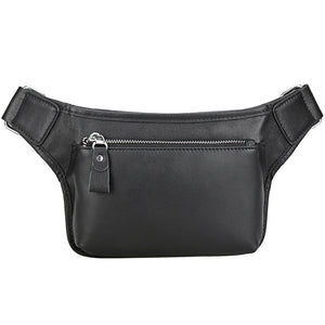 Full Grain Leather Chest Pack Men Stylish Waist Bag Casual Messenger Bag Handmade Shoulder Bag - echopurse