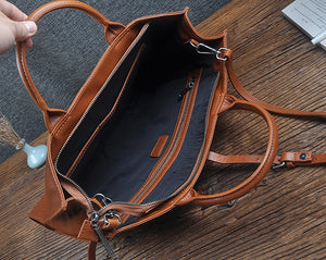 Leather Tote Bag, Leather Tote With Zipper, Leather Purse, Leather Bag, Leather Tote, Every Day Bag
