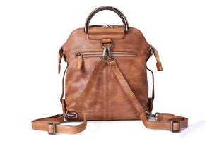 Genuine Leather Backpack, Handmade Rucksack, Messenger Bag, Shoulder Bag WF57 - echopurse