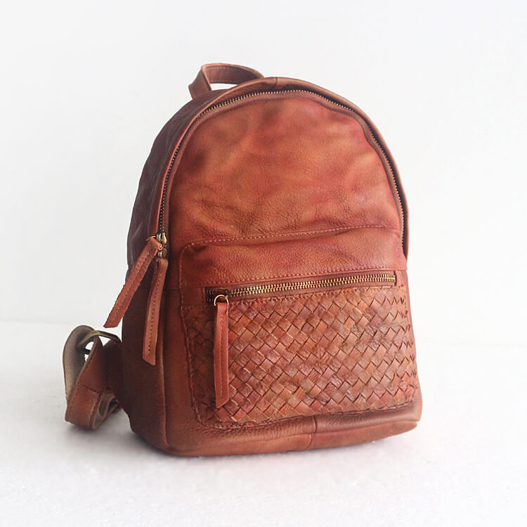 a58a2198d2f4 Handmade Full Grain Leather Backpack