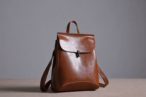 Handmade Leather Women Backpack, Rucksack XW01 - echopurse