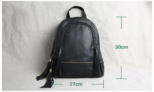 Handmade Leather Backpack For Girls, Leather Travel Backpack JL083