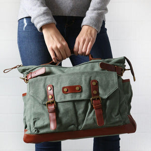 Handmade Shoulder Camera Bag, Canvas Messenger Bag, Camera Bag E03 - echopurse