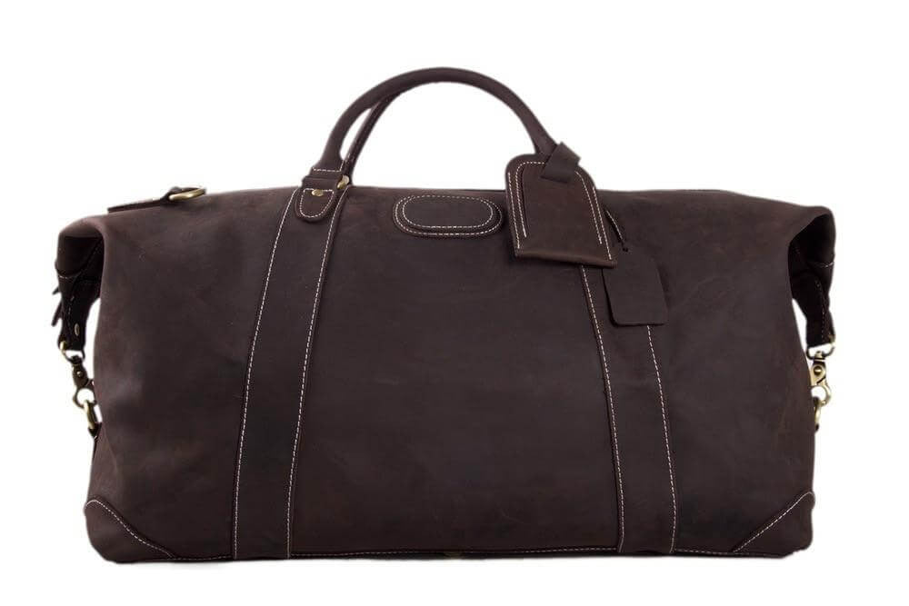 faff88b8c Handmade Top Grain Leather Weekender Bag, Men's Duffle Bag, Travel ...