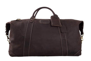 Handmade Top Grain Leather Weekender Bag, Men's Duffle Bag, Travel Bag DZ07 - echopurse