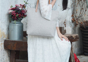 Handmade Vintage&Art Canvas Bag, Cotton Tote Bag BB930 - echopurse