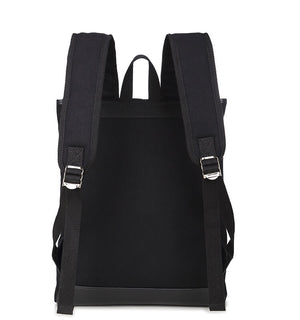 Hot Sale Canvas Backpack, School Backpack, Black Laptop Rucksack 165 - echopurse