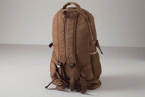 Brown Large Capacity Backpack, Travel Bag, Sports Knapsack, Canvas Rucksack BDB708 - echopurse