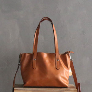 Designer Leather Totes, Women Crossbody Bag, Handmade Full Grain Leather Shoulder Bag 3880 - echopurse