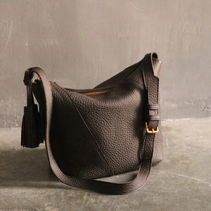 Full Grain Leather Shoulder Bag, Handmade Women Shopper Bag, Gift For Women 3785S - echopurse