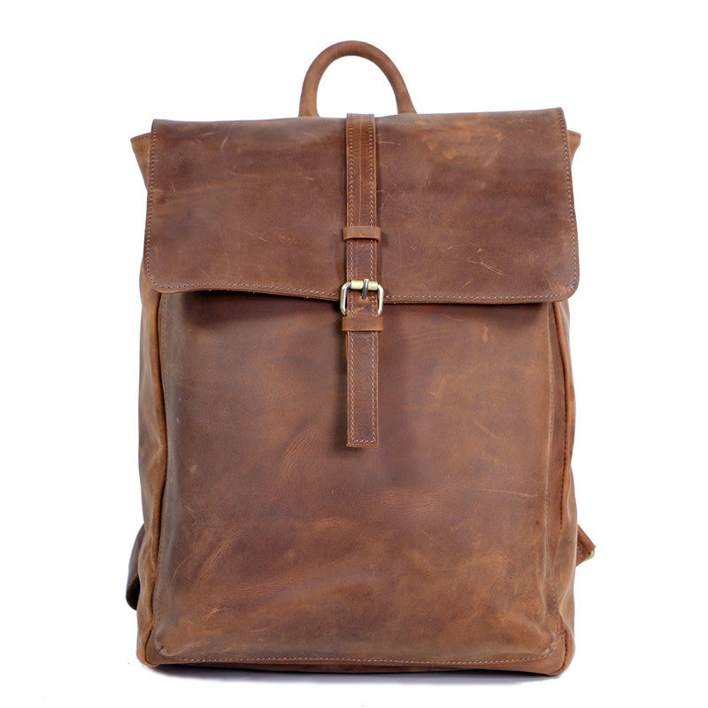 09023664459d Leather School Backpack
