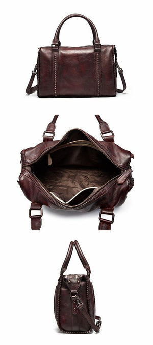 Leather Travel Bag, Crossbody Bag For Women, Leather DSLR Camera Bag - echopurse