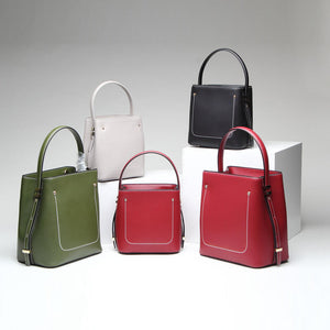 New Chic Leather Bucket Bag, Satchel Bag, Leather Handbags BN590 - echopurse