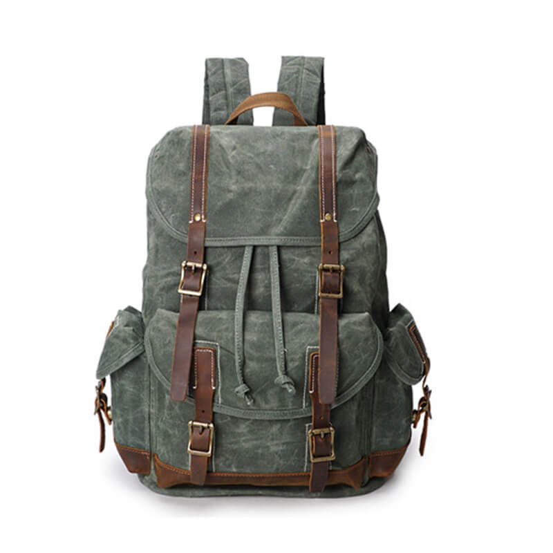 Oil Waxed Canvas Backpack