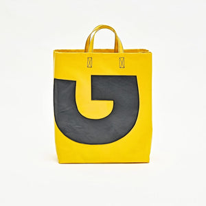 PVC Yellow Color Tote Bag, Chic Handbags, Crossbody Bag BFP178