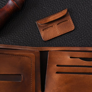 Top Grain Leather Wallet, Man`s gifts, Card Holder MT0918 - echopurse